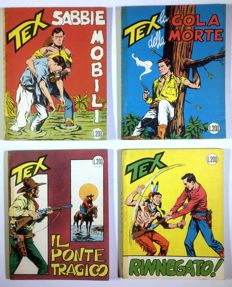 Tex, giant edition - 4x stapled albums - nos. 38/41 - 1st edition (1963-64)