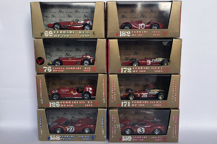 Brumm - Scale 1/43 - Lot with 8 models: 8 x Ferrari