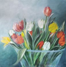 Hilda Hendriksen - Colored tulips