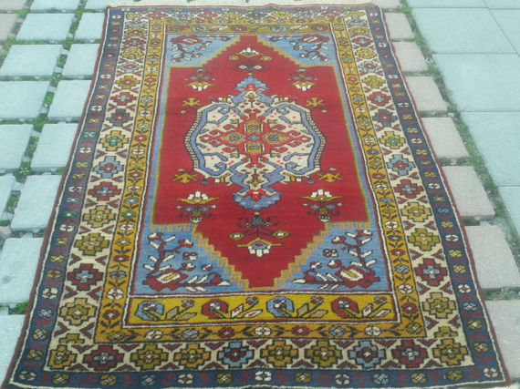 Yahyali , Turkish Wool Rug, 100 x 145 cm