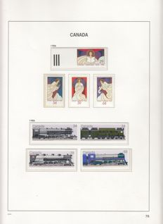 Canada 1986/2005 and Newfoundland 1880/1939 - collection in Davo album part IV