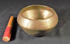 Singing bowl bronze - Nepal - early 20th century