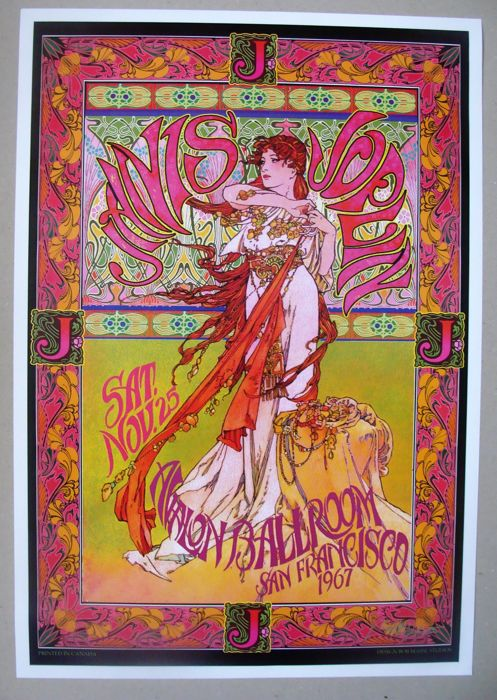 Janis Joplin Big Brother & the Holding Co San Francisco Avalon Ballroom Family Dog 1967
