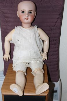 Old doll SFBJ, porcelain head, composition body, H. approx. 60 cm