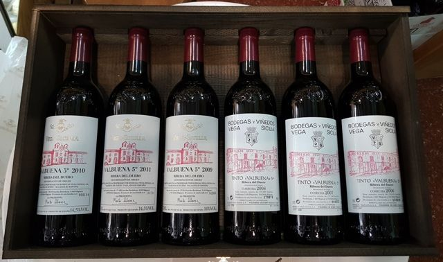 2006, 2007, 2008, 2009, 2010 & 2011 Vega Sicilia Valbuena Special Collector's edition Case - 6 bottles