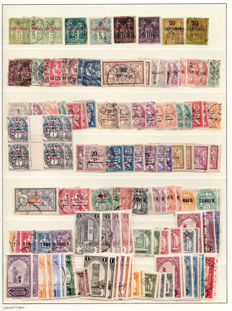 Morocco 1891/1956 - collection between Yvert 1 and 362 and airmail, Tangier