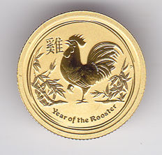 Australia - 5 Dollars 2017 'Year of the Rooster' - 1/20 oz gold