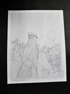 Mael - Original drawing - Tribute to Corto Maltese - (2015)