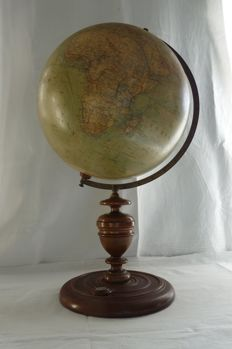 Impressive and extremely beautiful antique table globe by Heymann