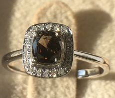 0.84 ct diamond in 14k white golden ring ***No reserve Price***