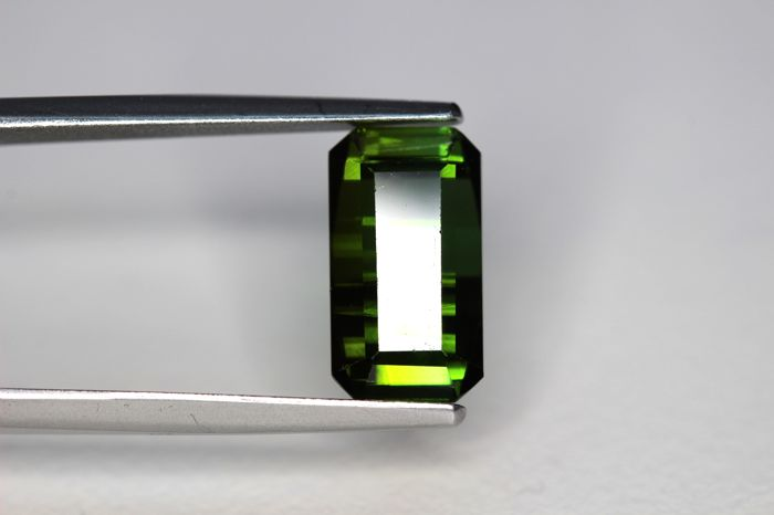 Verdelite - 4.31 ct - Deep Green