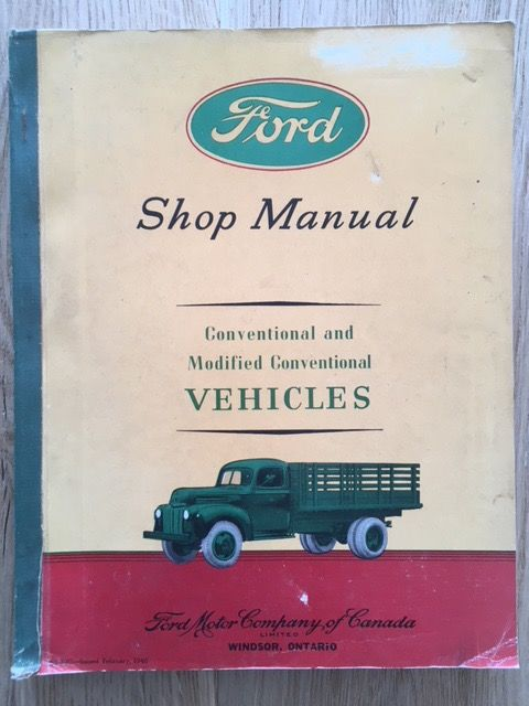 Car And Truck Shop >> Ford 1946 Shop Manual Conventional And Modified Conventional