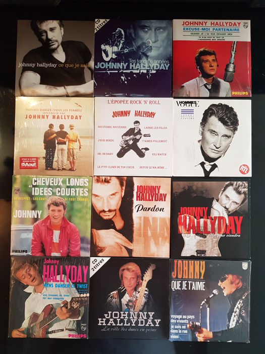Lot of 12 cd's Johnny Hallyday - albums - digipak - cd 2 & 4titles