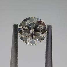 0.70ct Natural Round Brilliant Cut Diamond N, Very Light Brown VS1