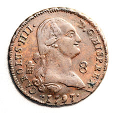 Spain - Carlos IV - 8 Maravedis in copper - 1797 - Segovia