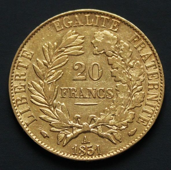 France - 20 francs 1851 A 'Cérès' - Gold.