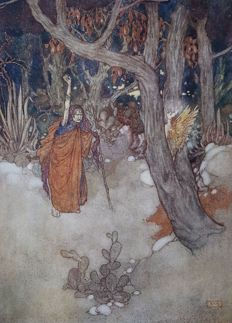 Edmund Dulac; William Shakespeare - De Storm - 1909