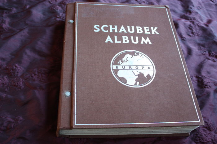 World - Collection in an old Schaubek album