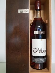 Armagnac Laubade 1962 Bottled 2002 In Wood Box
