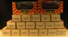 Solido - Scale 1/43 - Lot with 20 models: Porsche, VW, Abarth, Simca, Renault & Mini