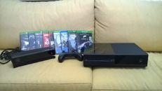 Xbox One with controller, Kinect, and 9 games