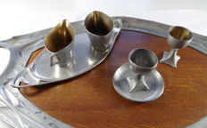 Bingit - Various pewter Art Nouveau objects