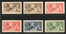 Great Britain King George V - 1913 Waterlow Seahorse Basic Set to £1 Mint Hinged/Lightly Hinged