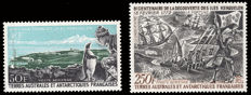 French Austral and Antarctic lands Lot with 2 series, air mail - Yvert A14 and A28