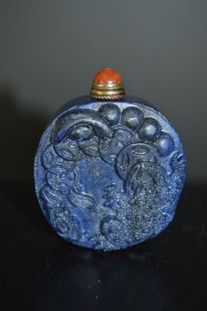 Tobacco bottle in lapis lazuli, modern - China - 1960