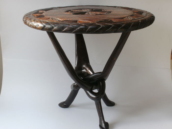African wooden folding table