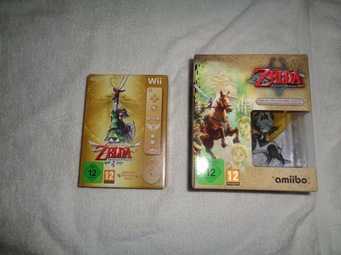 Wii Zelda twilight princess limited + Wii Zelda skyward sword wii limited
