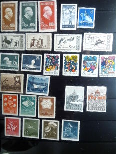 China 1951/1961 - Collection of 10 complete sets and 32 individual stamps out of sets