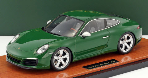 Spark - Scale 1/18 - Porsche 911 (991 II) Carrera S 1,000,000th Porsche 911 produced 2017 - Green