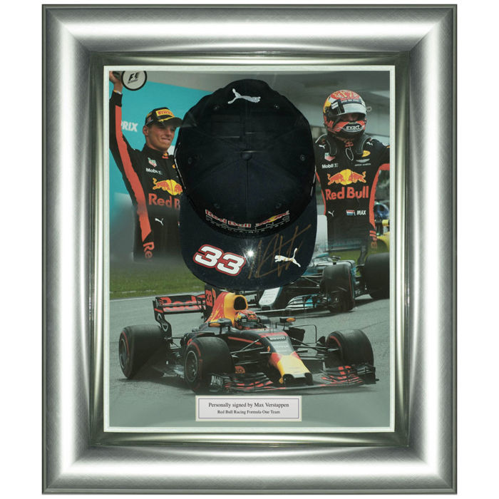 Signed Max Verstappen Red Bull Racing Framed F1 Cap Display Catawiki