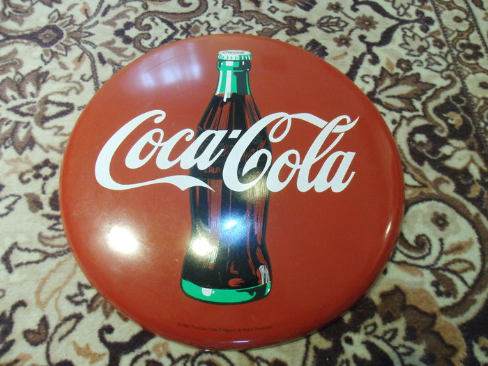 Coca Cola 50 cm metal sign from 1990