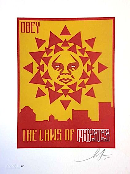 Shepard Fairey (OBEY) - Laws of Physics Variant