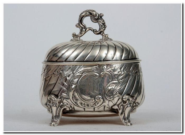 A Silver Sugar Bowl - H. Meyen & Co, Germany, the end of the 19th Century