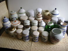 Collection of 33 pharmacists jars