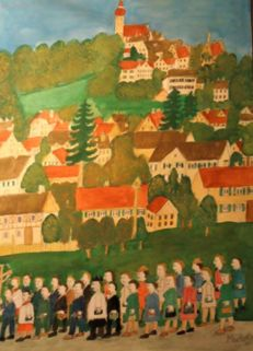 Max Raffler (1902-1988) - Kloster Andechs - Naive Malerei