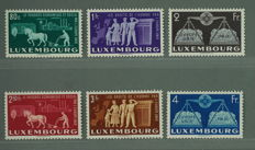 Luxembourg 1951 - Europa Stamps series - Mi 478/483 with certificate