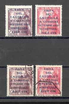 Spain 1951 - Caudillo's visit to the Canary Islands. Two complete series - Edifil 1088/1089