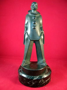 "Max LeVerrier - ""Pierrot"" - Art Deco sculpture"