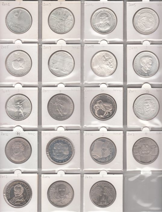 19 Different Types Of Pants: 10 Euro Commemorative Coins 2002/2014 (19
