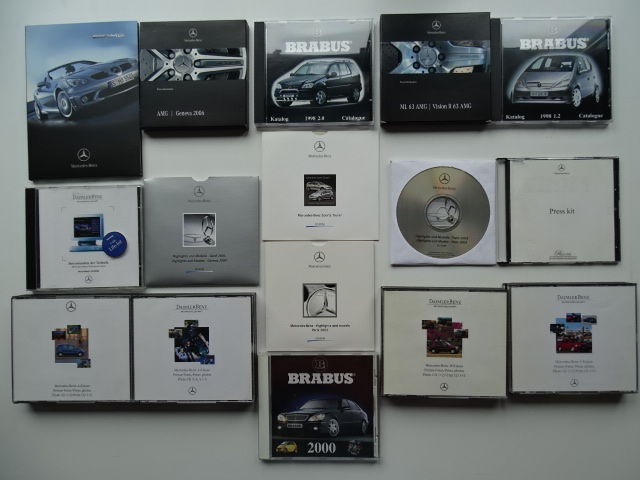 1997 - 2006 - MERCEDES-BENZ / AMG / BRABUS - Mixed lot of 27 original CD-Rom's & 1 DVD
