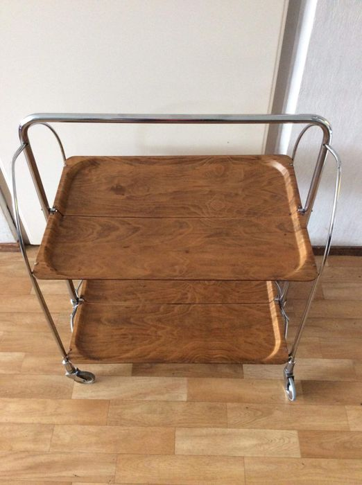 "Bremshey Gerlinol - Vintage folding ""Dinett"" serving trolley/trolley"