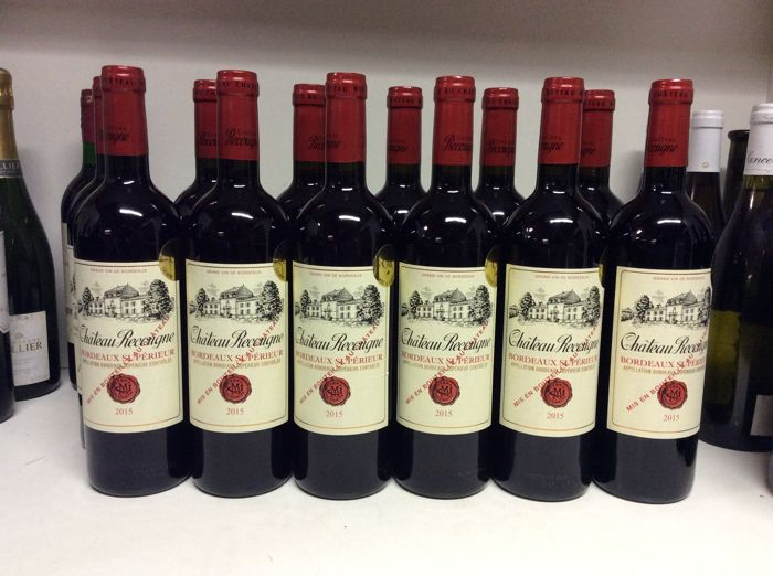 2015 Chateau Recougne, Bordeaux Superieur, France , 12 bottles 0,75l