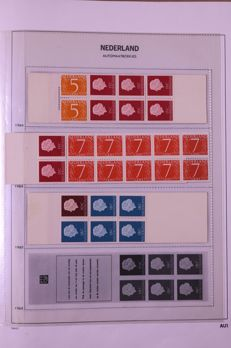 The Netherlands 1964/1982 - Collection machine booklets in Davo album