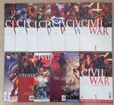 Marvel Comics - Civil War - Issues #1-7 Complete Set + Extra Tie In Comics - x13 SC - (2006/2007)