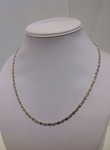 18 kt yellow and white gold necklace - Necklace length: 51 cm