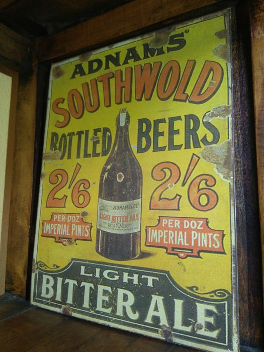 Rare vintage sign of ADNAMS BEER 20th century